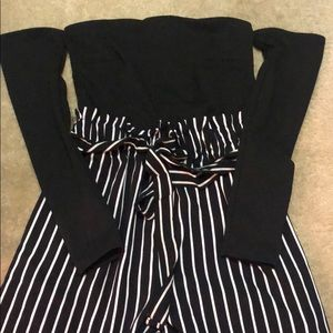 BRAND NEW tube top-sleeved paper bag jumpsuit